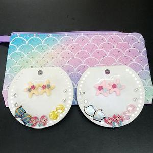 Handbags - Sparkly Mermaid Pouch & Earrings
